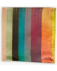 Paul Smith - Artist Stripe Silk Pocket Square - Lyst