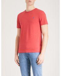 Polo Ralph Lauren - Custom-fit Cotton-jersey T-shirt - Lyst