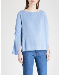 Kitri - Melissa Pleated Crepe Top - Lyst