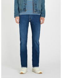Jacob Cohen - Tailored-fit tapered jeans - Lyst