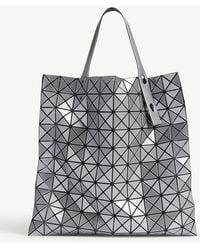 427a0239a234 Bao Bao Issey Miyake - Bao Issey Miyake Silver Prism Metallic Tote Bag -  Lyst