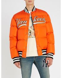 Gucci - Ny Yankees-appliquéd Down-filled Bomber Jacket - Lyst