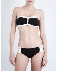 Seafolly - Block Party Bandeau Bikini Top - Lyst