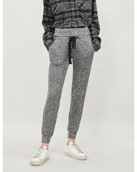 The Kooples - Sequin-trimmed Fleece Jogging Bottoms - Lyst