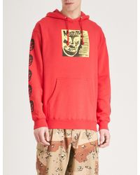 Obey - X Misfits Cover Cotton-blend Hoody - Lyst