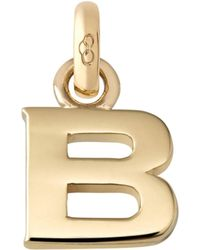 Links of London | B 18ct Yellow Gold Charm | Lyst