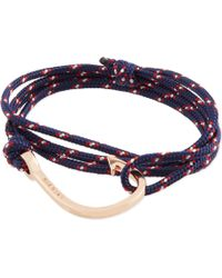 Miansai | Rose Gold Rope Hook Bracelet | Lyst
