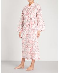 Yolke | Amour Cotton Dressing Gown | Lyst