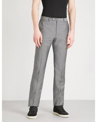 Corneliani | Leader-fit Straight Wool Trousers | Lyst