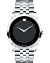 Movado - 0606504 Museum Classic Stainless Steel Watch - Lyst