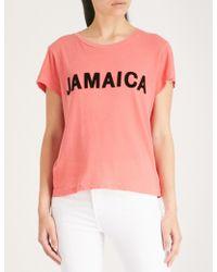 Wildfox - Flocked Print Jamaica T-shirt - Lyst