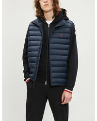 8369704c0 Lyst - Moncler Quilted-trim Sweatshirt in Black for Men