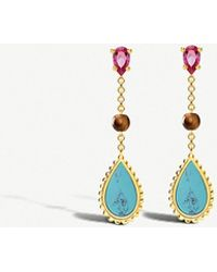 Thomas Sabo - Riviera 18ct Yellow-gold Drop Earrings - Lyst
