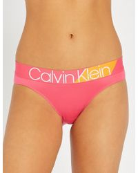Calvin Klein - Bold Accents Stretch-jersey Bikini Briefs - Lyst