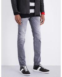 7a4c55cf DIESEL Tepphar 0609R Slim Carrot Jeans in Blue for Men - Lyst