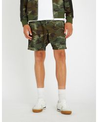 The Kooples - Camouflage-print Jersey Shorts - Lyst
