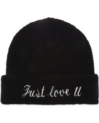 Sandro - Just Love U Knitted Beanie Hat - Lyst
