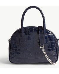 The Kooples - Irina Reptile-effect Leather Shoulder Bag - Lyst