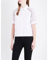 Maje | Casey Cotton-poplin Shirt | Lyst