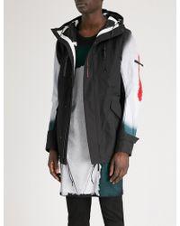 Boris Bidjan Saberi 11 - Blur-print Hooded Shell Parka Jacket - Lyst