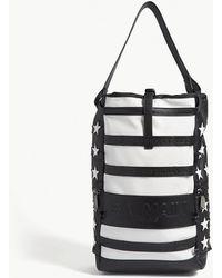 Balmain - Cruise Flag Leather Backpack - Lyst