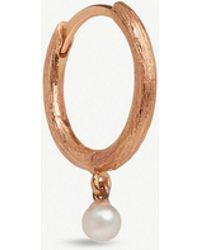Annoushka - Hoopla 18ct Rose Gold Pearl Hoop Earring - Lyst