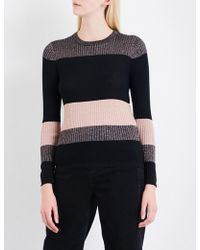 Whistles | Colourblock Sparkle Knitted Jumper | Lyst