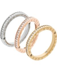 Michael Kors - Haute Hardware Iconic Crystal Stacking Rings - Lyst