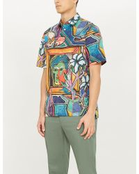 Paul Smith - Artist Studio Tailored-fit Printed Cotton Shirt - Lyst