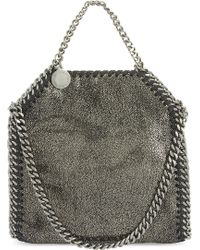 fadf1efdefbcc Stella McCartney The Falabella Faux Fur Shoulder Bag in Black - Lyst