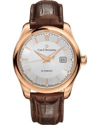 Carl F. Bucherer - 00.10915.03.13.01 Alligator-embossed Leather And 18ct Rose Gold Watch - Lyst