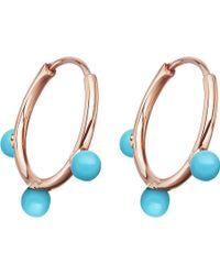 Astley Clarke - Hazel Rose-gold Vermeil & Turquoise Hoop Earrings - Lyst