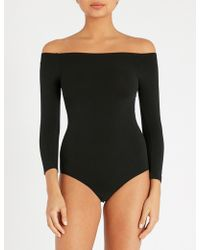 Commando - Ballet Off-the-shoulder Stretch-jersey Thong Body - Lyst