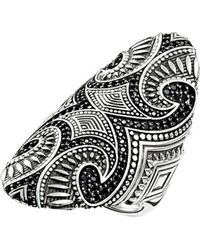 Thomas Sabo - Rebel At Heart Maori Sterling Silver Ring - Lyst