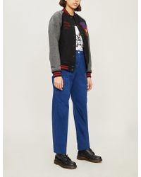 13594e9094bf A Bathing Ape - Varsity Letter-appliquéd Wool-blend Felt Jacket - Lyst