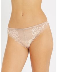 Wacoal - Lace Perfection Stretch-lace Tanga Briefs - Lyst