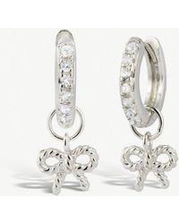 Olivia Burton - Sterling Silver Hoop Earrings - Lyst