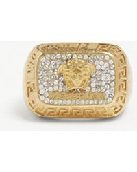 Versace - Crystal Square Ring - Lyst