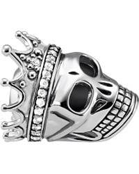 Thomas Sabo - Skull Queen Sterling Silver Karma Bead - Lyst
