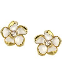 Shaun Leane - Gold Vermeil Sterling Silver And Diamond Small Blossom Earrings - Lyst