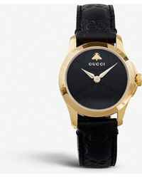 39a24347067 Gucci - Ya126581 G-timeless Collection Yellow-gold Pvd And Leather Watch -  Lyst