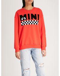 Mini Cream - Checkerboard Cotton-jersey Sweatshirt - Lyst