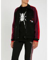 Lanvin - Side-stripe Appliquéd Cotton-jersey Track Jacket - Lyst