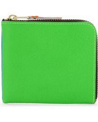 Comme des Garçons - Super Fluorescent Leather Half Zip Wallet - Lyst