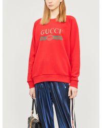 14cec9f0934 Gucci - Sequin-embellished Cotton-jersey Sweatshirt - Lyst