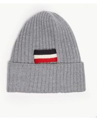 a9f26ac9b8d Lyst - Moncler Ribbed Virgin Wool Beanie in Green for Men