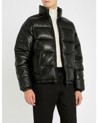 Sandro - Helly Hansen Quilted Reversible Shell And Leather Jacket - Lyst