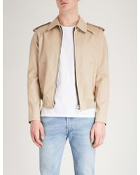 Sandro - Cropped Cotton-twill Trench Coat - Lyst
