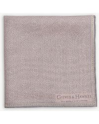 Gieves & Hawkes - Logo Solid Silk Pocket Square - Lyst