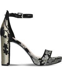 Nine West - Dempsey Embroidered High Heel Sandals - Lyst